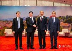 厦门书记会见高雄市长旧游网韩国瑜:闽南语是共同的乡音
